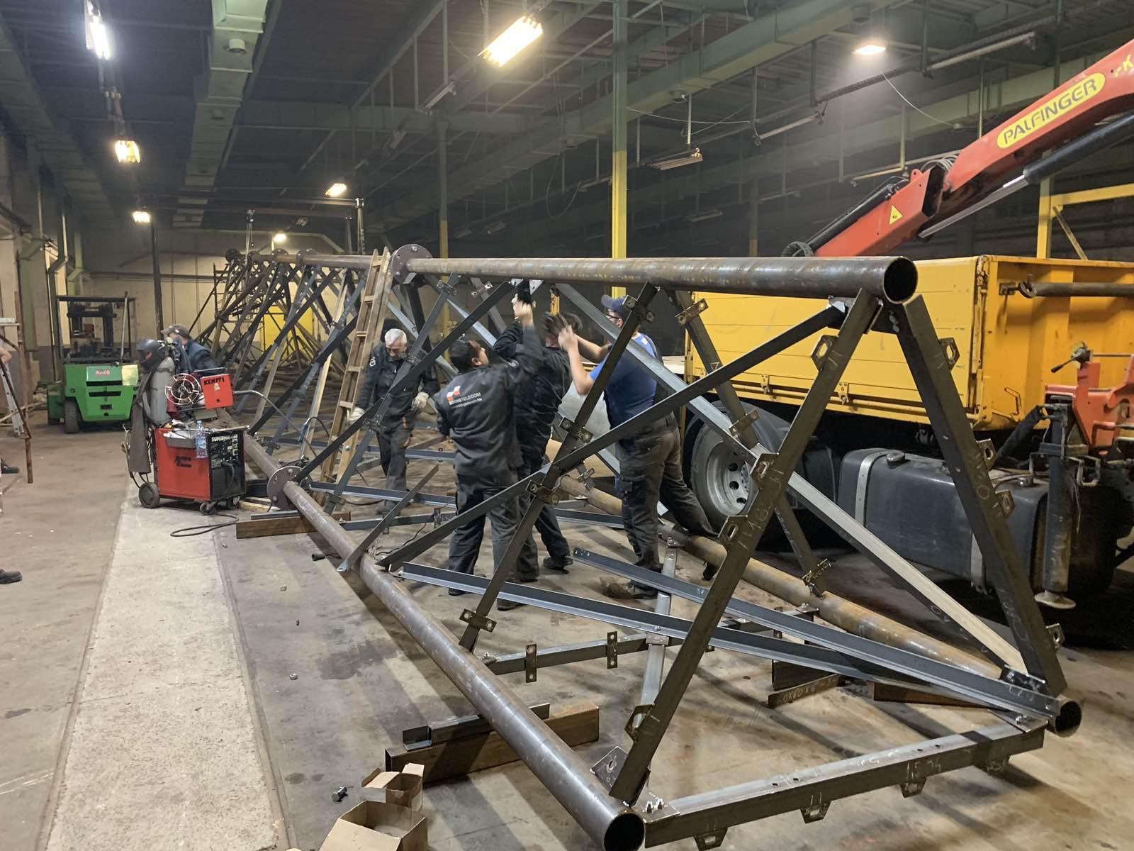 Proizvodnja - Ericson resetkasti stub 60 m